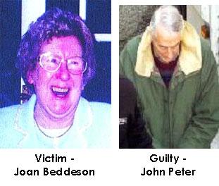 Fotografien des Opfers und des Angeklagten